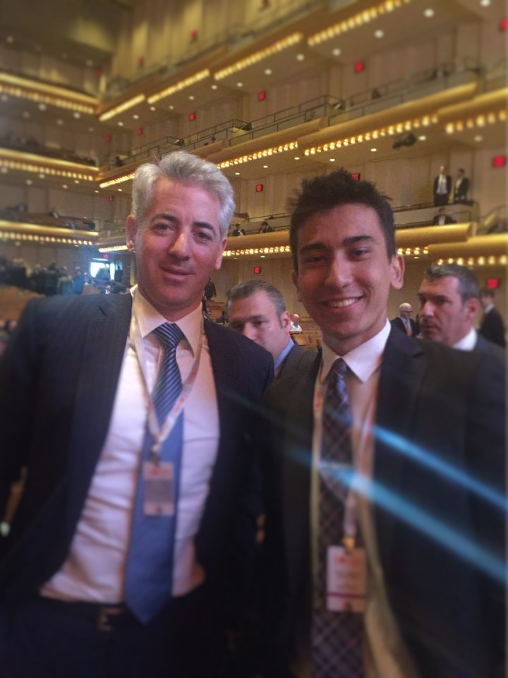 Bill Ackman (left) Khojinur Usmonov (right)